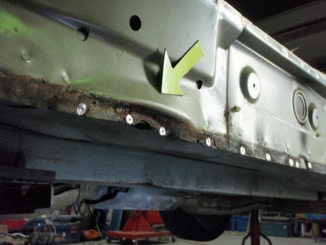 BNR32,R32GTR,スカイライン,補強,修理,ジャッキアップポイント,サイドシルインナーフォース,軽量,オリジナル,販売,3263,施工