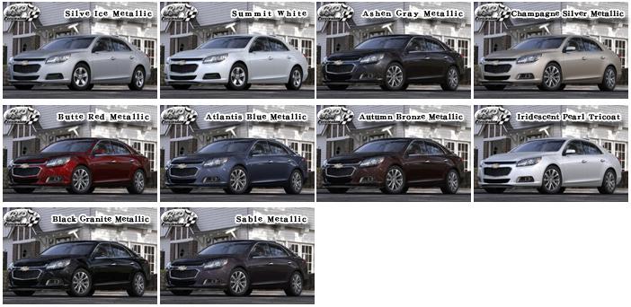 シボレー マリブ 2015 (Chevrolet Malibu)【中古車】 カラー