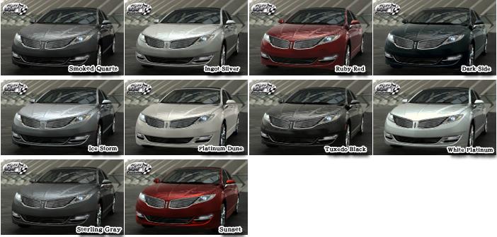 リンカーン MKZ 2014 (Lincoln MKZ) カラー